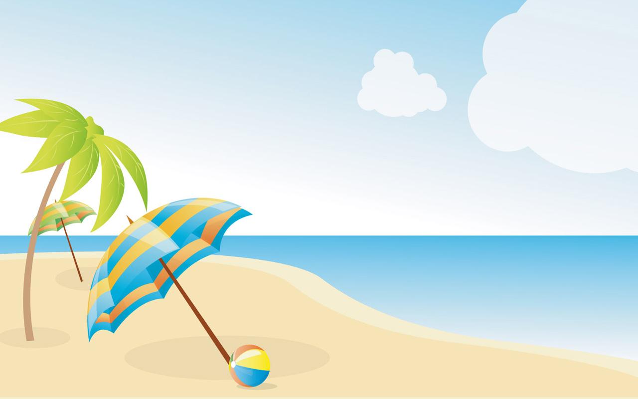 1280x800 Animated Beach Clipart