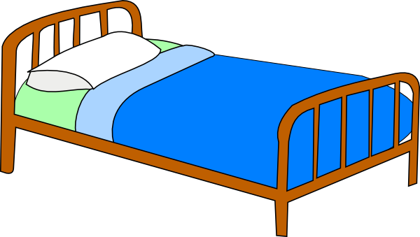 600x339 Colored Bed Clip Art