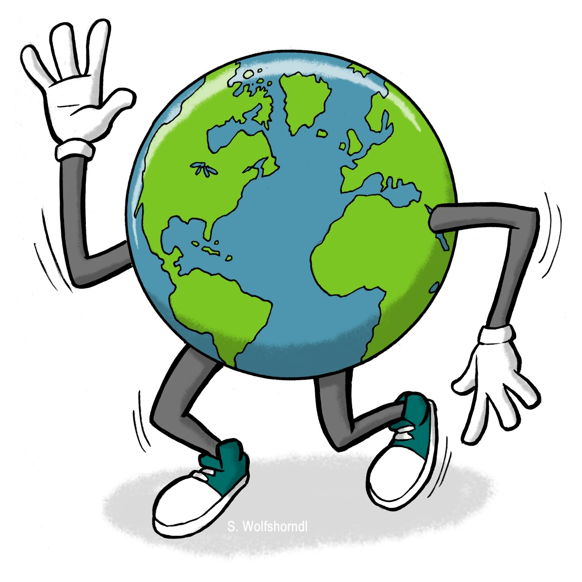 1200x1200 Earth Clipart Animated Globe