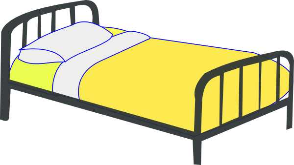 600x338 Single Bed Clip Art