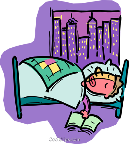 429x480 Person Sleeping In Bed Royalty Free Vector Clip Art Illustration