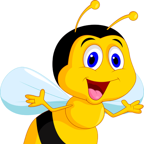 500x500 Cartoon Honey Bee Clip Art Honey Bee Animated