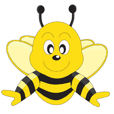 400x400 Clipart Honey Bee