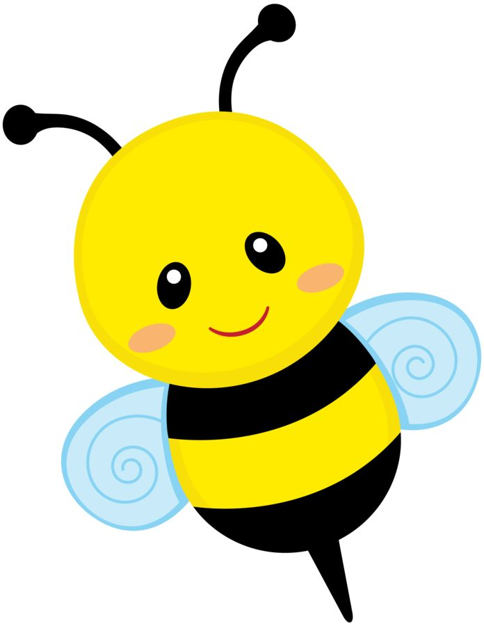 696x900 Cute Honeybee Clipart