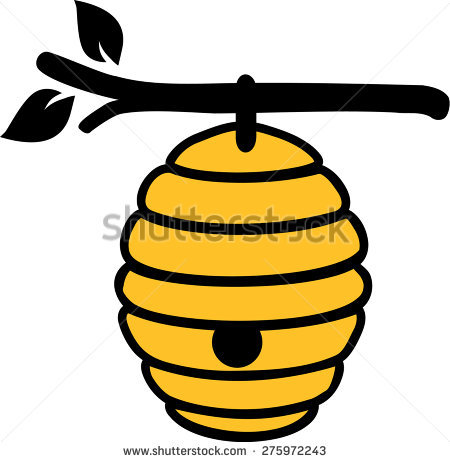 450x462 Bee Hive Clipart Comic