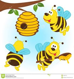 236x252 Cartoon Bee And Beehive Images Honeycomb, Bee Hive Background