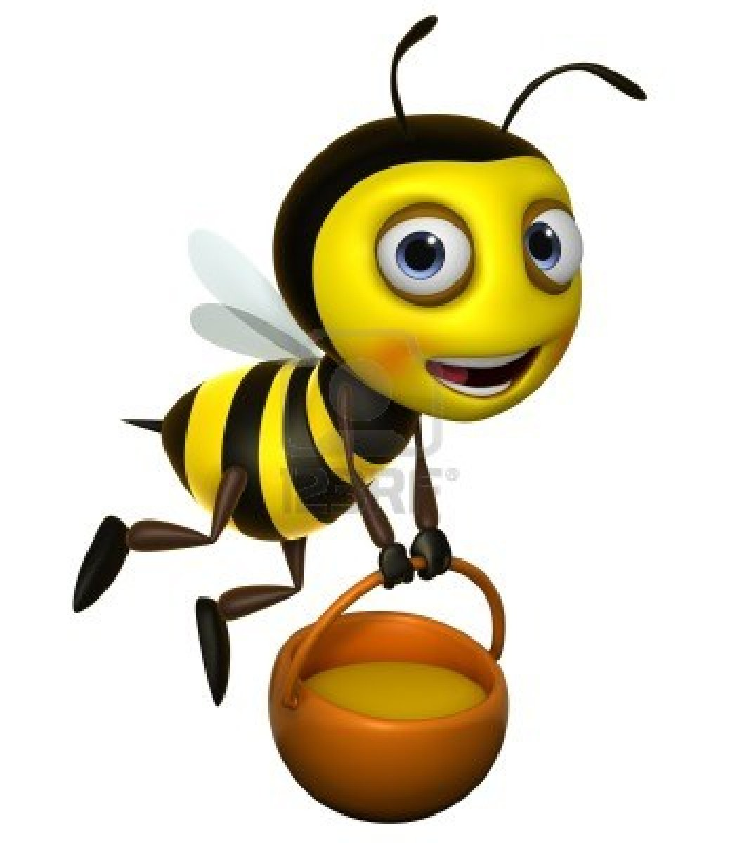 1056x1200 Free Cute Bee Clipart Image