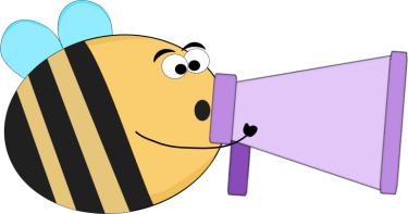 375x197 Funny Bee Yelling Into A Bullhorn Clip Art