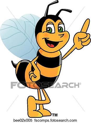 347x470 Stock Illustration Of Bumble Bee 2 Pointing Up Bee02x005