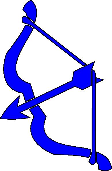 390x596 Blue Bow N Arrow Clip Art