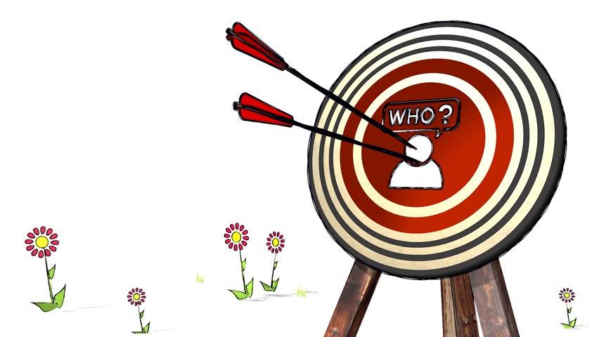 852x480 Hit The Score Of A Archery Idea Symbol Target. A Stick Man