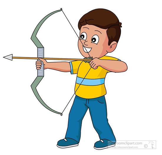550x524 Man Clipart Archery