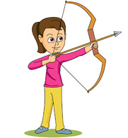 181x195 With Bow And Arrow Clipart