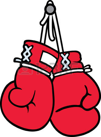 332x450 Hanging Boxing Gloves Clipart