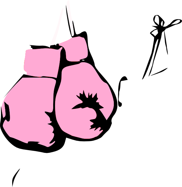 582x598 Pink Boxing Gloves Clip Art