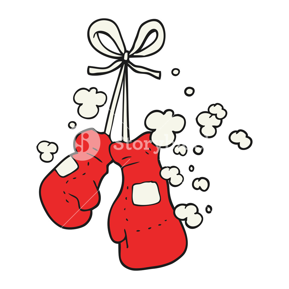 1000x1000 Freehand Drawn Cartoon Boxing Glove Royalty Free Stock Image