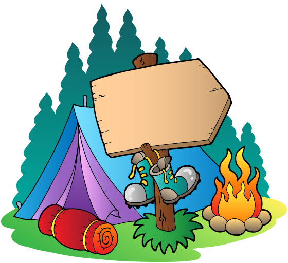 560x512 Family Camping Free Clipart