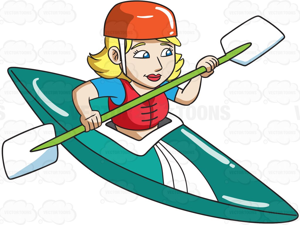 1024x768 Kayak clipart animated