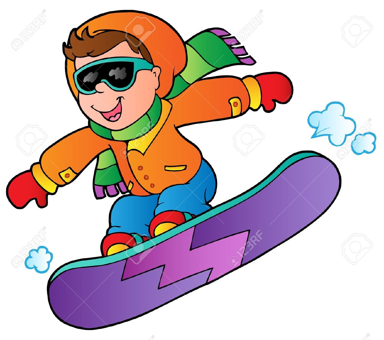 1300x1149 Snowboarding animated clipart