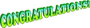 300x96 Animated Congratulations Clipart