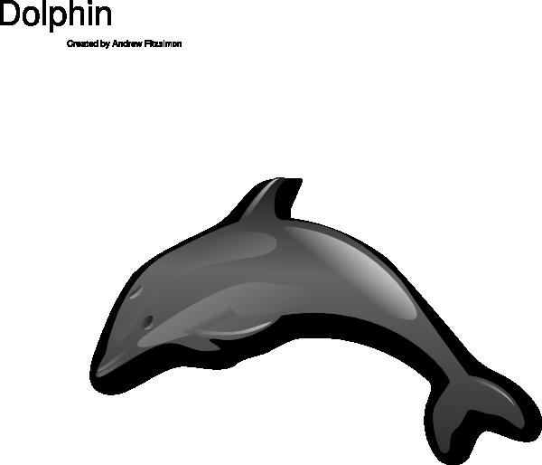 600x514 Jumping Dolphin Clip Art