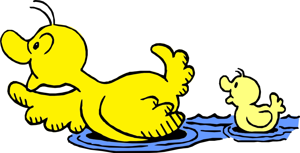 958x491 Duckling Clipart Duck Swimming
