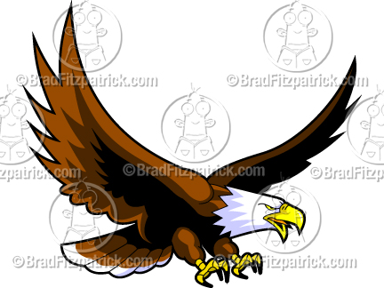 432x324 Cartoon Eagles Logos Clipart