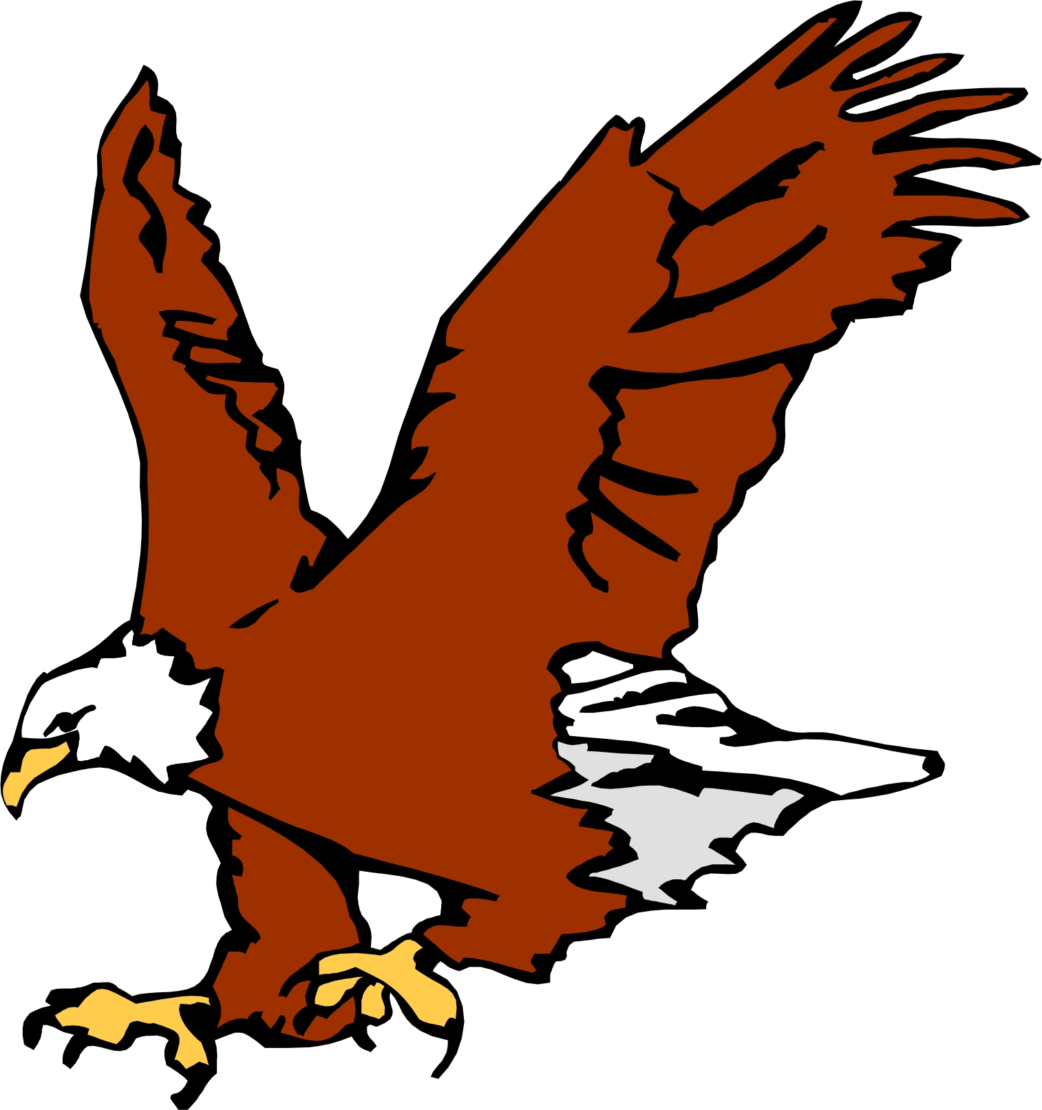 1514x1612 Cartoon eagles clip art