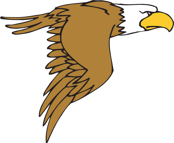 600x494 Flying Bald Eagle Cartoon Clip Art