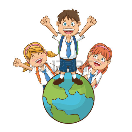 450x450 Boy Cartoon Student. Back To School Education And Childhood Theme