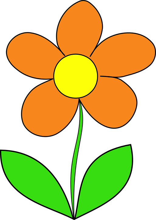 513x720 Orange Flower Clipart Animated Flower