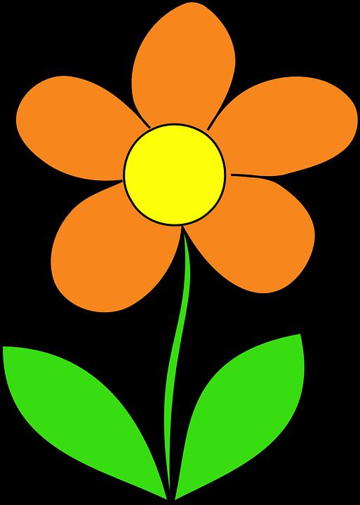 513x720 Orange Flower Clipart Animated Flower