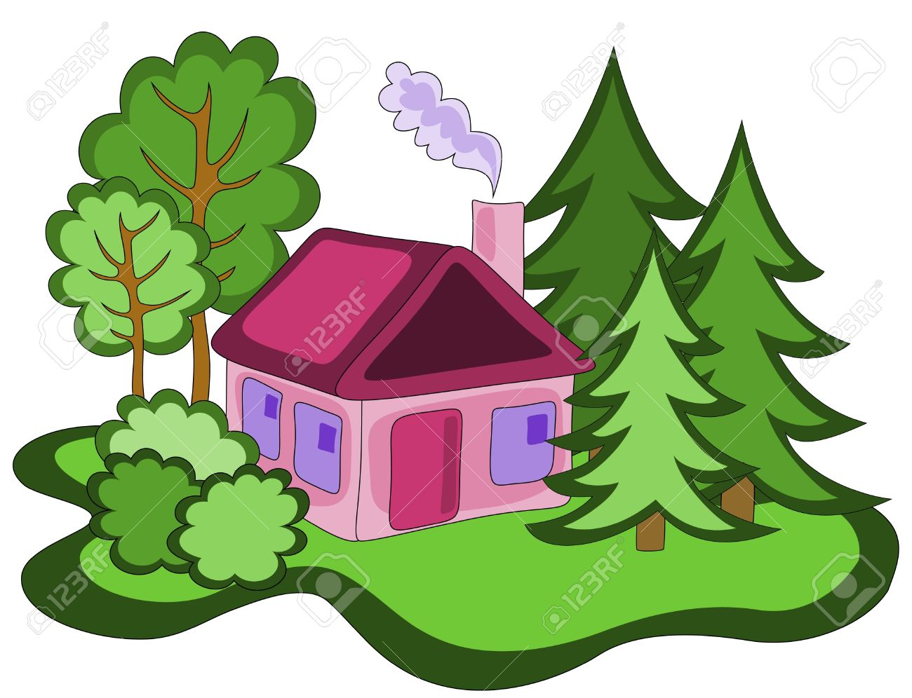 1300x996 House Clipart Woods