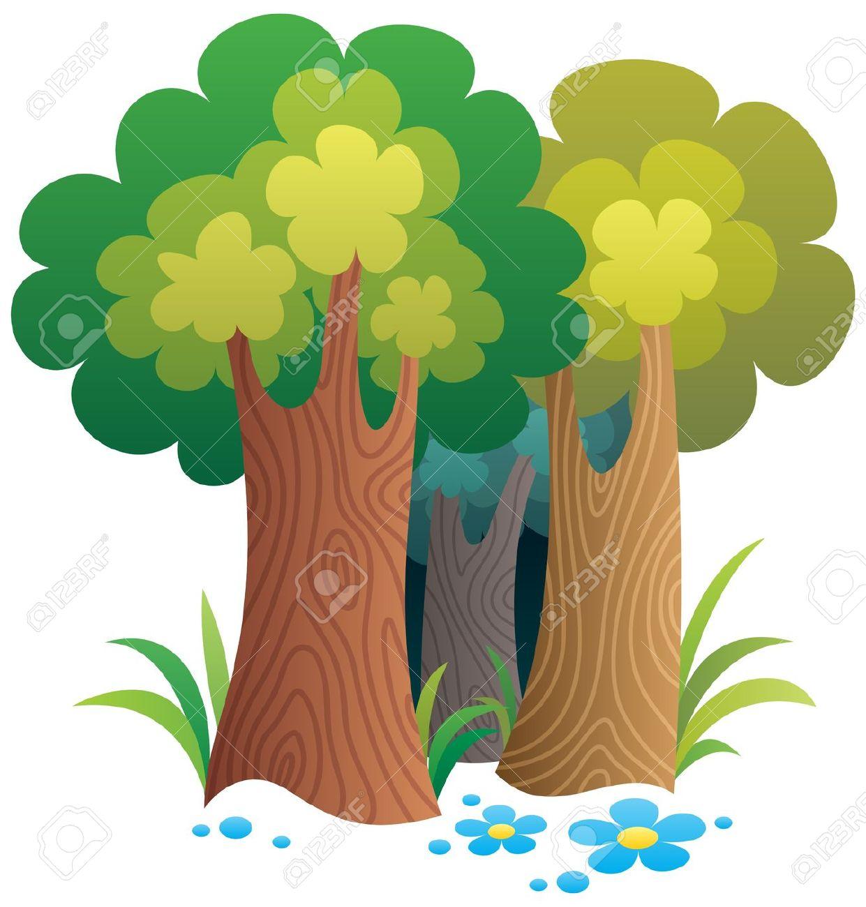 1241x1300 Cartoon Clipart Forest