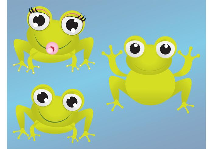 700x490 Cartoon Frogs