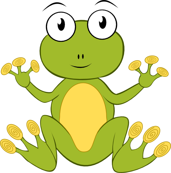 555x561 Free Animated Frog Clipart
