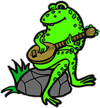 204x220 Frog Playing Guitar Clipart
