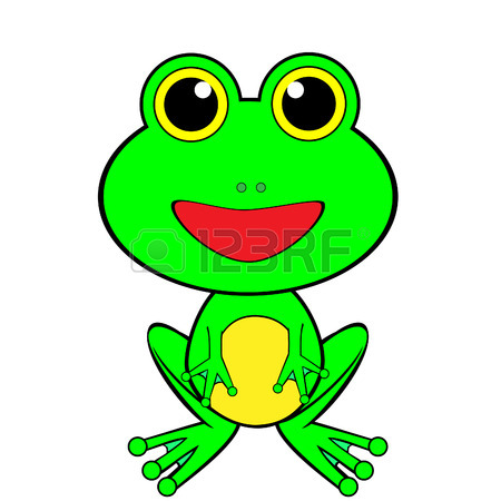 450x450 A Cute Looking Frog Royalty Free Cliparts, Vectors, And Stock