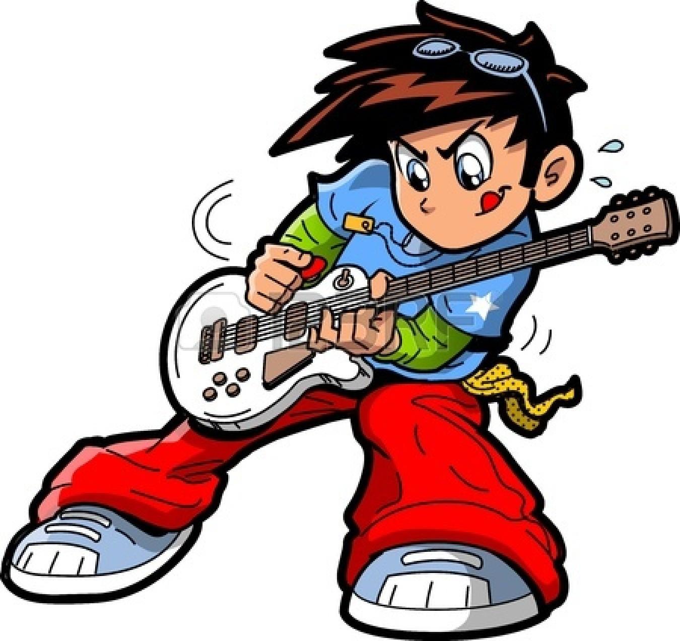 1350x1272 Rock Guitar Player Clipart
