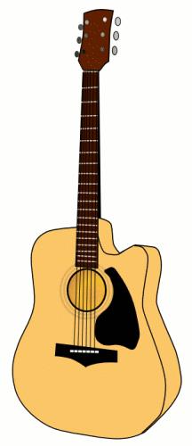 216x500 Free Clipart Guitar Clipartmonk