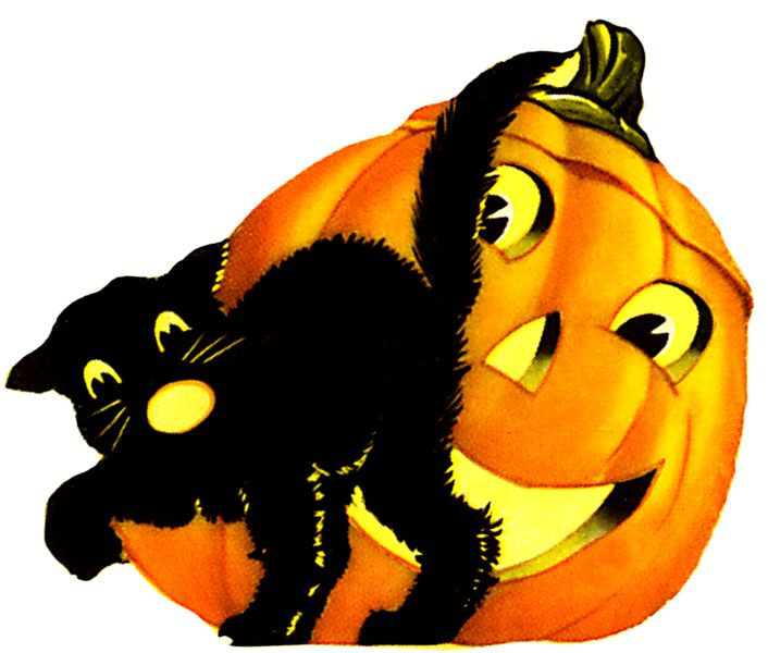 706x600 Graphics For Cat Animated Halloween Graphics