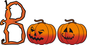300x157 Animated Happy Halloween Clipart, Images, Black and White Free Png
