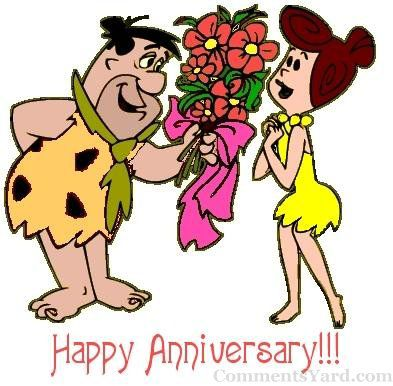 393x386 Happy Anniversary Animated Couple Graphic