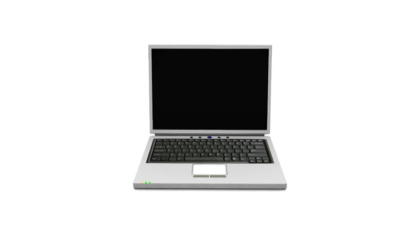 852x480 3d Animated Rendering Of A Laptop Stock Footage Video 411739