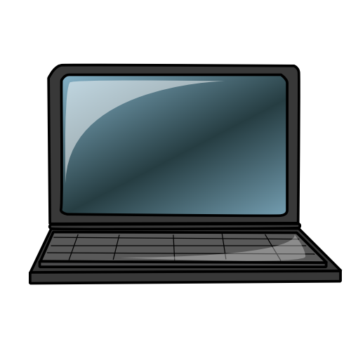 500x500 Laptop Clipart Animated