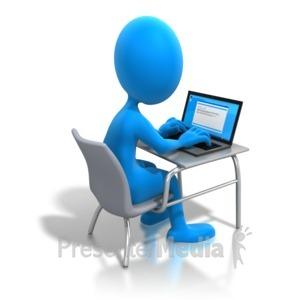 300x300 Woman Working Laptop Desk