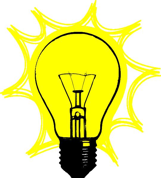 540x598 Free Clipart Light Bulb