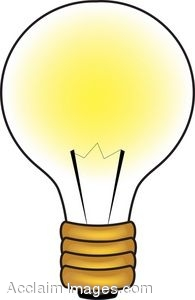 195x300 Lamp Clipart Light Bulb