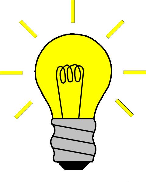 480x596 Light Bulb On Clip Art