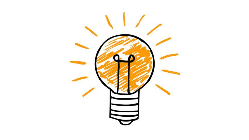 852x480 Light Bulb The Big Idea Concept Stock Footage Video 8571166
